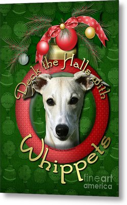 Deck The Halls With Whippets Metal Print by Renae Laughner