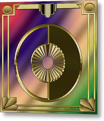 Metal Print featuring the digital art Deco 27 - Chuck Staley by Chuck Staley