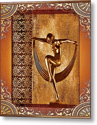 Deco Art Metal Print by Mary Morawska