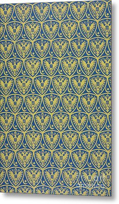 Decorative Pattern With The German Coat Of Arms Metal Print by German School