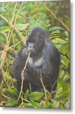 Deep In Virunga Jungle Metal Print