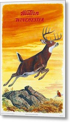 Deer Hunter Metal Print by J G Woods