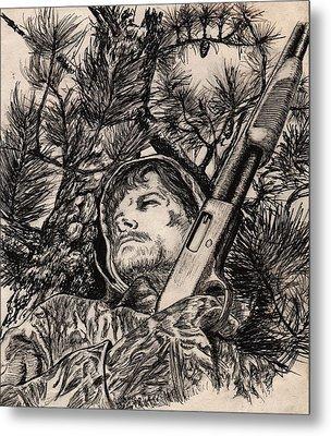 Deer Hunter Metal Print by Kathleen Kelly Thompson