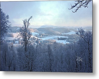 Deer Valley Winter View Metal Print by Meta Gatschenberger