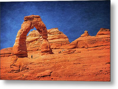Delicate Arch In Arches Metal Print
