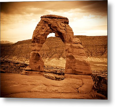 Delicate Arch Metal Print by Mickey Clausen