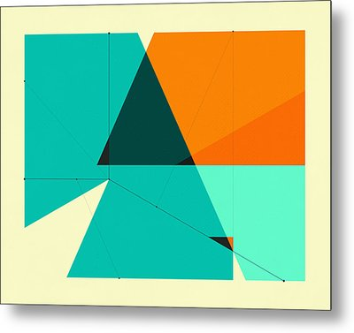 Delineation - 131 Metal Print by Jazzberry Blue