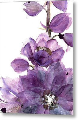 Delphinium Metal Print by Dawn Derman