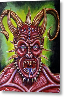 Demon Metal Print by Chris Benice