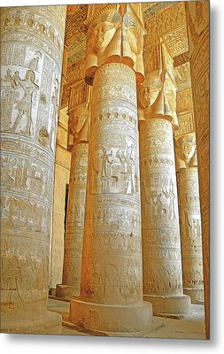 Dendera Temple Metal Print by Nigel Fletcher-Jones