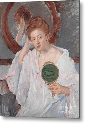 Denise At Her Dressing Table Metal Print