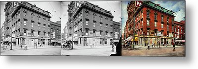 Metal Print featuring the photograph Dentist - Peerless Painless Dental Parlors 1910 - Side By Side by Mike Savad