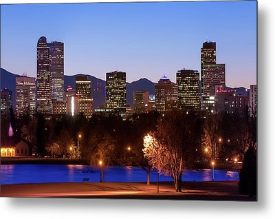 Denver Downtown Skyline - Mile High City Metal Print by Gregory Ballos