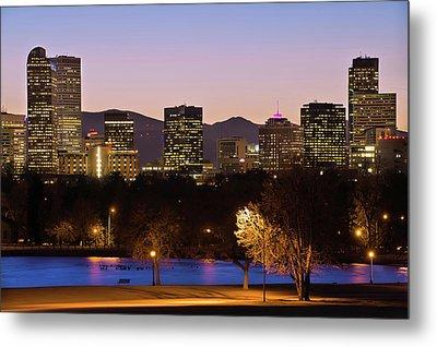 Denver Skyline - City Park View Metal Print by Gregory Ballos