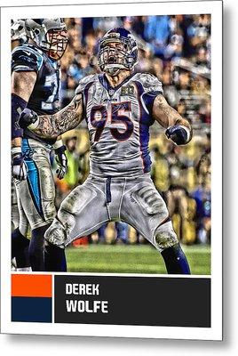 Derek Wolfe Denver Broncos Metal Print