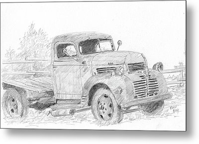 Derelict Dodge Metal Print by David King