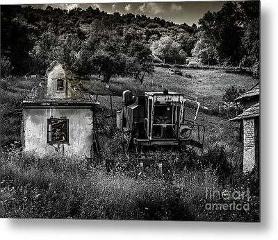 Derelict Farm, Transylvania Metal Print