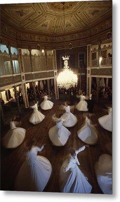 Dervishes Perform A Ritual Dance Metal Print by James L. Stanfield
