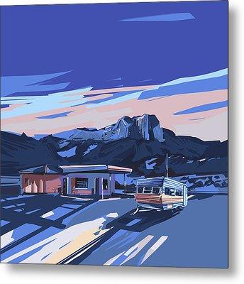 Desert Landscape 2 Metal Print