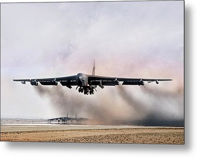 Desert Storm Delivery Metal Print by Peter Chilelli