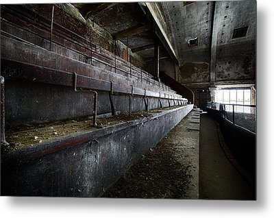 Metal Print featuring the photograph Deserted Theatre Steps - Urban Exploration by Dirk Ercken