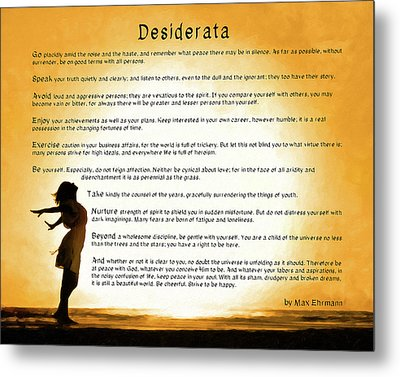 Metal Print featuring the mixed media Desiderata - Child Of The Universe by Mark Tisdale