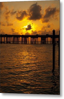 Destin Harbor Sunset 1 Metal Print by James Granberry