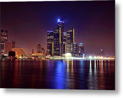 Detroit Skyline 4 Metal Print by Gordon Dean II