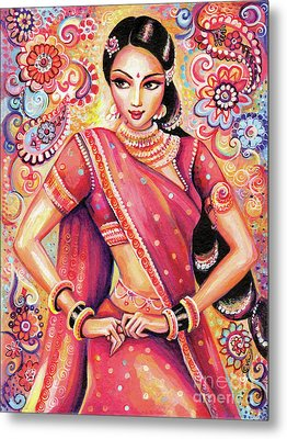Metal Print featuring the painting Devika Dance by Eva Campbell