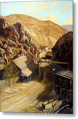 Devils Gate Nevada Metal Print by Evelyne Boynton Grierson