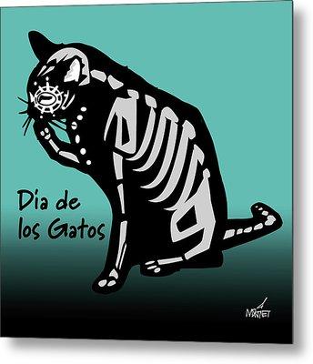 Dia De Los Gatos Metal Print
