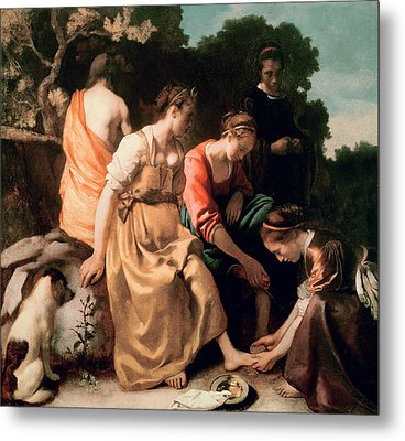 Diana And Her Companions Metal Print by Jan Vermeer