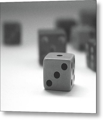 Dice 2- By Linda Woods Metal Print