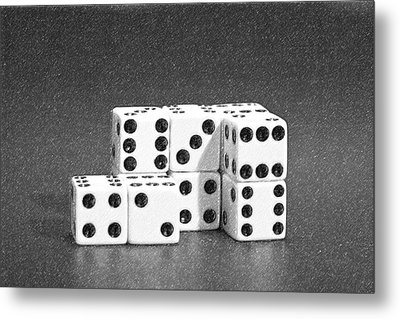 Dice Cubes II Metal Print by Tom Mc Nemar