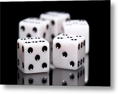 Dice I Metal Print by Tom Mc Nemar