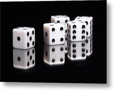 Dice II Metal Print by Tom Mc Nemar