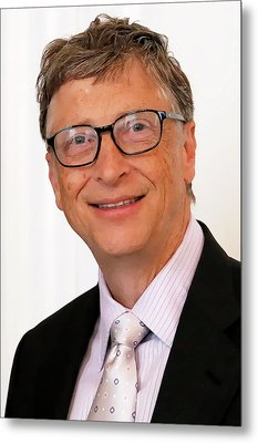Digital Bill Gates Metal Print