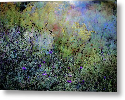 Digital Watercolor Field Of Wildflowers 4064 W_2 Metal Print