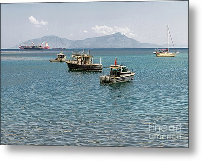Metal Print featuring the photograph Dili Harbour 01 by Werner Padarin