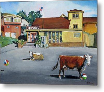 Dillion Beach Cows Metal Print by Kathryn LeMieux