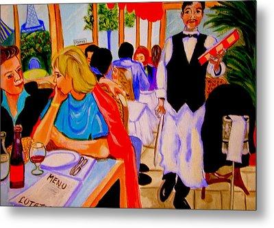 Diners At La Lutetia Metal Print by Rusty Woodward Gladdish