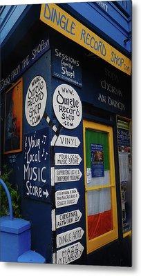 Dingle Record Shop Metal Print