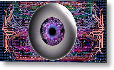Metal Print featuring the digital art Direct Link by Iowan Stone-Flowers