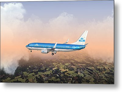 Metal Print featuring the digital art Dirty 737ng 28.8x18 by Mike Ray