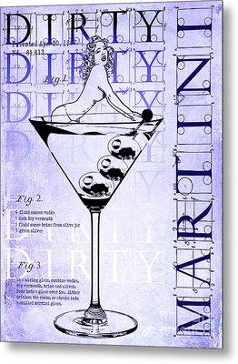 Dirty Dirty Martini Patent Blueprint Metal Print by Jon Neidert