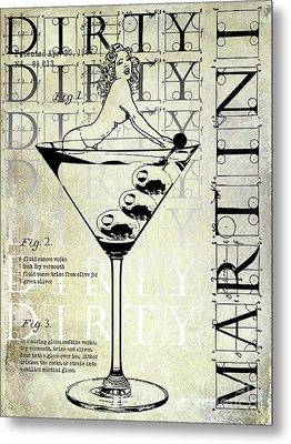 Dirty Dirty Martini Patent Metal Print by Jon Neidert