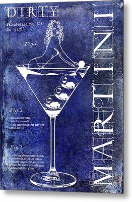 Dirty Martini Patent Blue Metal Print by Jon Neidert