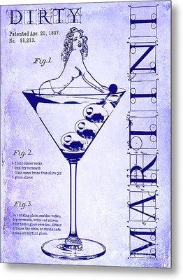Dirty Martini Patent Blueprint Metal Print by Jon Neidert