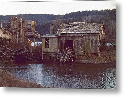 Discovery Bay Mill Metal Print by Laurie Stewart