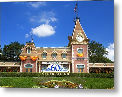 Metal Print featuring the photograph Disneyland Entrance by Mark Andrew Thomas